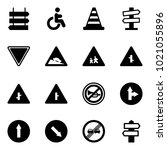 solid vector icon set   sign... | Shutterstock .eps vector #1021055896