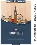 travel to england. travel and... | Shutterstock .eps vector #1021071592