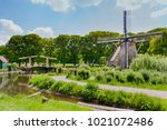 the open air museum in arnhem ... | Shutterstock . vector #1021072486