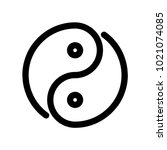yin yang icon. outline modern...