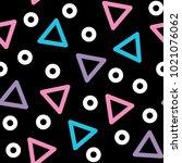 triangle vector seamless... | Shutterstock .eps vector #1021076062