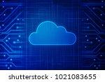 2d rendering cloud computing | Shutterstock . vector #1021083655