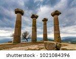 assos ancient city in turkey | Shutterstock . vector #1021084396