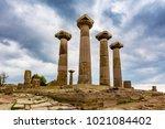 assos ancient city in turkey | Shutterstock . vector #1021084402