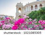 odessa opera and ballet theater ...   Shutterstock . vector #1021085305