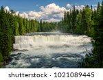 dawson falls on the murtle...   Shutterstock . vector #1021089445
