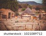 zimbabwe traditional house  | Shutterstock . vector #1021089712
