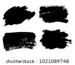 painted grunge stripes set.... | Shutterstock .eps vector #1021089748