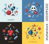 digital smart medical nano... | Shutterstock .eps vector #1021091332