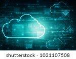 2d rendering cloud computing    Shutterstock . vector #1021107508