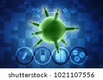 3d rendering viruses in... | Shutterstock . vector #1021107556