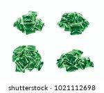 pile of multiple washing pod... | Shutterstock . vector #1021112698