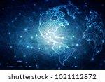 2d illustration network... | Shutterstock . vector #1021112872
