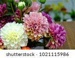 artifical of bounquet blooming... | Shutterstock . vector #1021115986