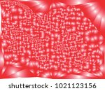 abstract red background with... | Shutterstock .eps vector #1021123156