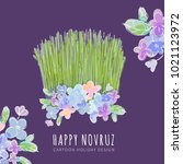 nowruz holiday vector design.... | Shutterstock .eps vector #1021123972