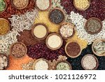 dried health food background...   Shutterstock . vector #1021126972