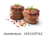 grilled beef fillet steaks... | Shutterstock . vector #1021135762