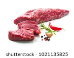 fresh and raw beef meat. whole... | Shutterstock . vector #1021135825