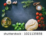 top view of ingredients for... | Shutterstock . vector #1021135858