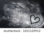 baking background with heart... | Shutterstock . vector #1021135912