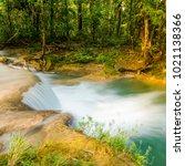 rainforest waterfall at agua... | Shutterstock . vector #1021138366