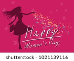 happy women's day 8 march pink... | Shutterstock .eps vector #1021139116