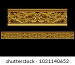 golden  ornamental segment  ... | Shutterstock . vector #1021140652
