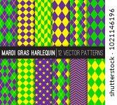 Mardi Gras Harlequin Vector...