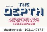 the depth vector decorative... | Shutterstock .eps vector #1021147675