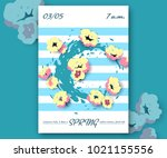 beauty and fashion spring... | Shutterstock .eps vector #1021155556
