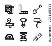 icons construction. vector pipe ... | Shutterstock .eps vector #1021155886