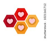 heart vector icon | Shutterstock .eps vector #1021161712