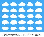 clouds silhouettes. vector set... | Shutterstock .eps vector #1021162036