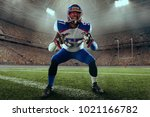 american football player... | Shutterstock . vector #1021166782
