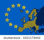 dublin iv   european union and...   Shutterstock .eps vector #1021173442