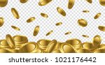fortune realistic 3d gold empty ... | Shutterstock .eps vector #1021176442