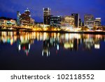 The Reflection Of Portland...