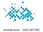 light blue vector polygonal... | Shutterstock .eps vector #1021187182