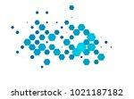 light blue vector polygonal... | Shutterstock .eps vector #1021187182