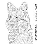 adult coloring page book a cute ... | Shutterstock .eps vector #1021187605
