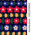 seamless floral pattern in...   Shutterstock .eps vector #1021193062