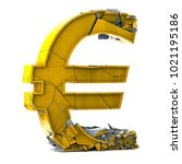 euro currency symbol on white... | Shutterstock . vector #1021195186
