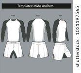templates uniform for mma... | Shutterstock .eps vector #1021197565