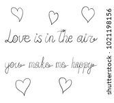 vector ink valentine day...   Shutterstock .eps vector #1021198156