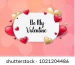 2018 valentine's day background ... | Shutterstock .eps vector #1021204486