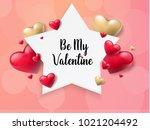 2018 valentine's day background ... | Shutterstock .eps vector #1021204492