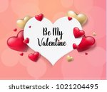 2018 valentine's day background ...   Shutterstock .eps vector #1021204495