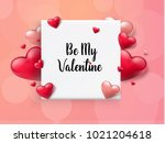 2018 valentine's day background ... | Shutterstock .eps vector #1021204618