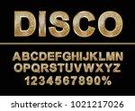 golden shiny mosaic in disco... | Shutterstock .eps vector #1021217026